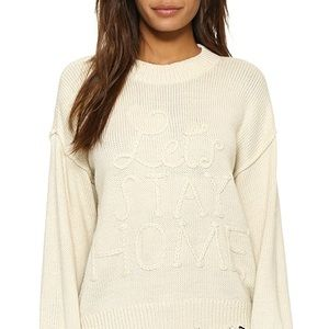 """WILDFOX KNIT """"LETS STAY HOME SWEATER"""" L"""